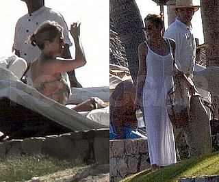Slide Photo of Jennifer Aniston Vacationing in Mexico and Poolside in Her Bikini