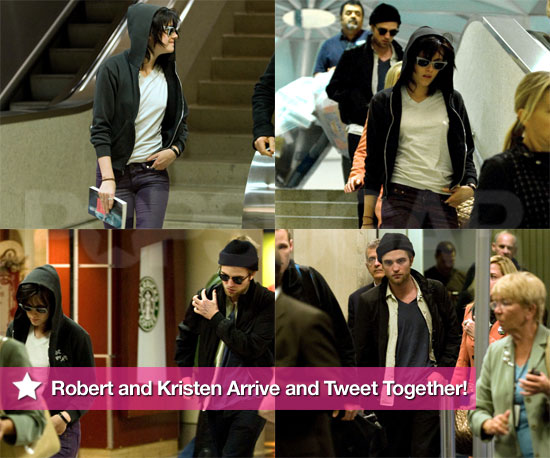 Photos of New Moon's Robert Pattinson and Kristen Stewart Together at LAX