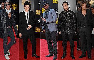Photos of Pete Wentz, Ne-Yo, Joe Perry, Adam Lambert, and Keith Urban on 2009 American Music Awards Red Carpet 2009-11-22 18:27:53