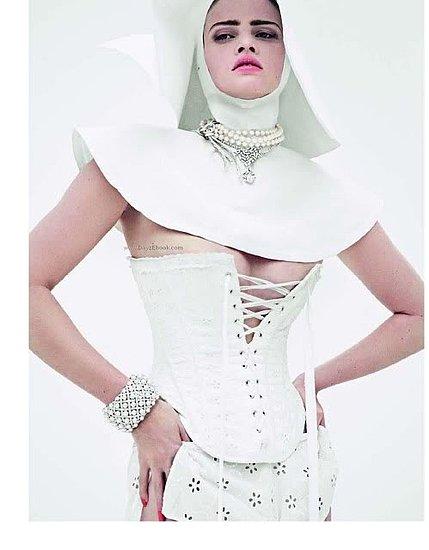 Lara Stone as a Nun in Vogue Paris December 2009
