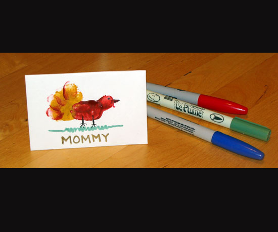 Personalized Turkey Place Cards