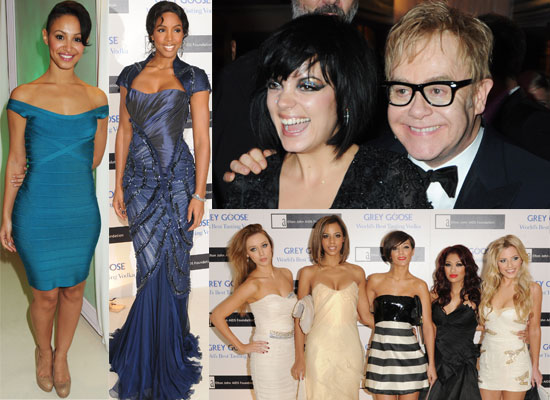 Photos from Elton John's AIDS Foundation Fundraiser in London with Aaron Johnson, Lily Allen, The Saturdays, Kevin Spacey