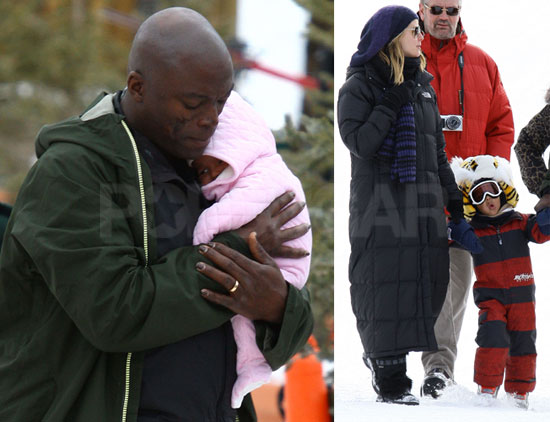 Photos of Heidi Klum and Seal Walking With Lou in Aspen