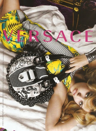 Georgia May Jagger Versace Ad Campaign Spring 2010