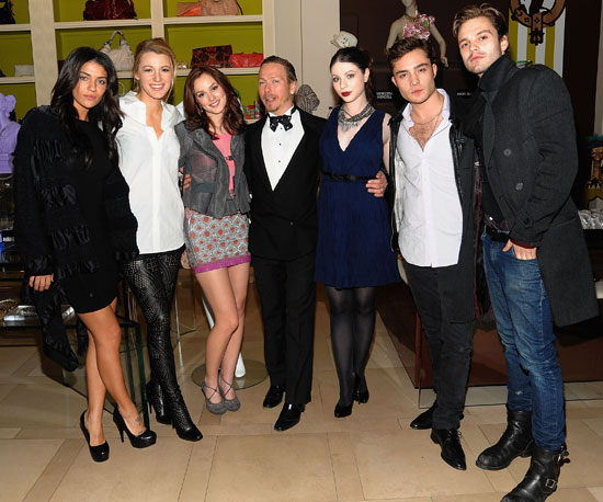 Slide Photo of the Gossip Girl Cast at Eric Daman Book Publication Party
