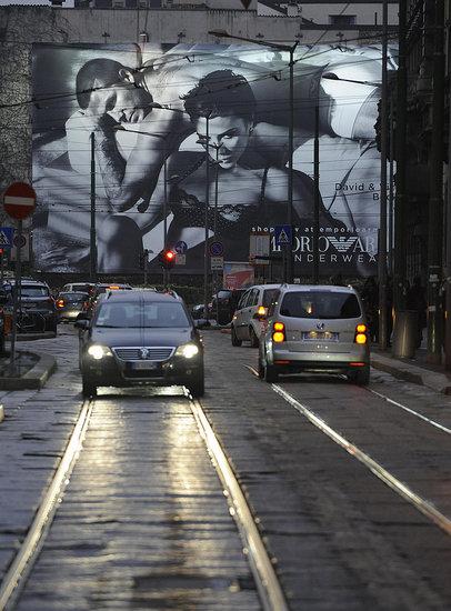 Emporio Armani Underwear Billboards Unveiled In Milan