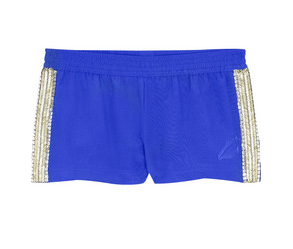 Jade Jagger Zigzag Beaded Shorts