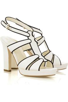 Sergio Rossi Monochrome Platform Sandals $995 @ Net-a-Porter