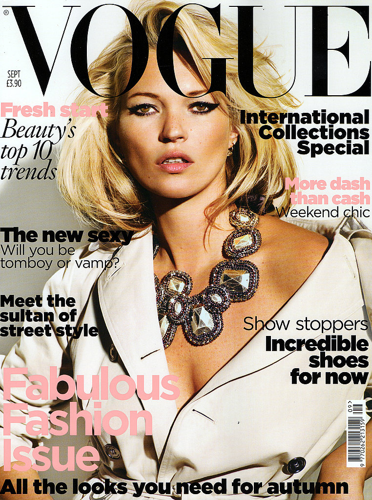 September Issues: UK Fashion Mags Stick to Models (Save Elle), While US Mags Go with Actresses