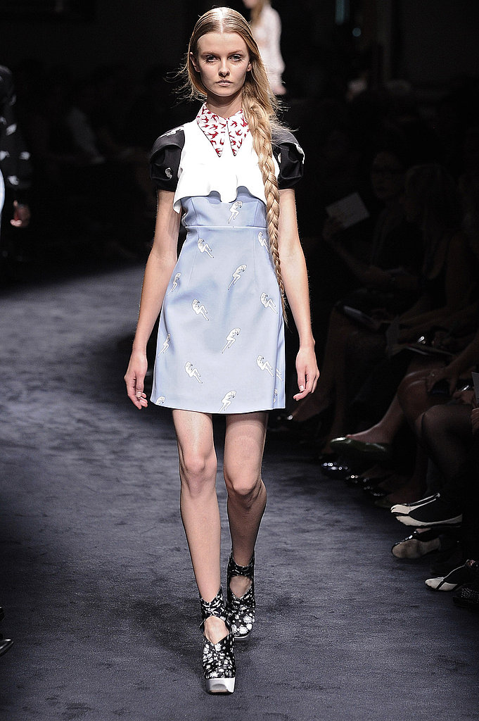 "Miuccia Prada Interprets ""Innocence"" with Cat and Bird Prints for Miu Miu Spring 2010"