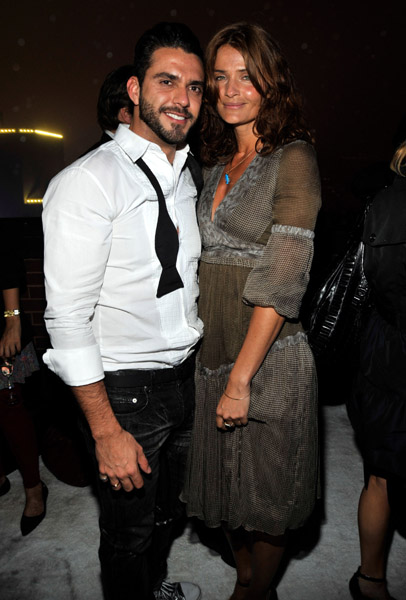 Lorenzo Martone and Helena Christensen