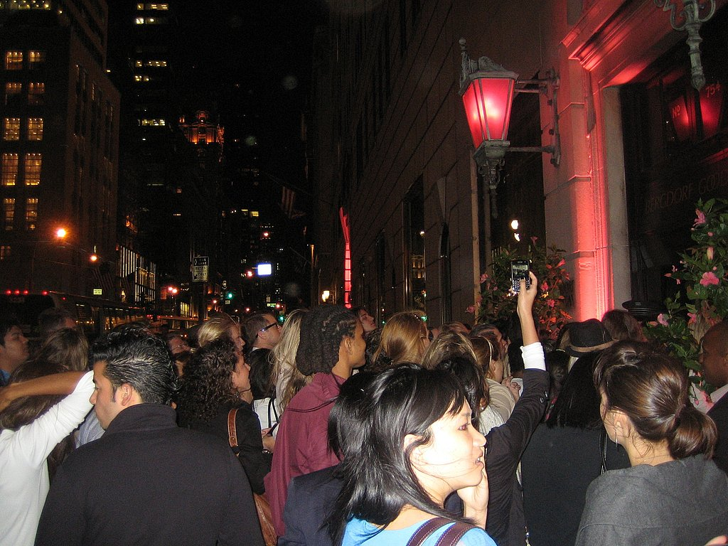 Scene in front of Bergdorf Goodman on 5th Avenue