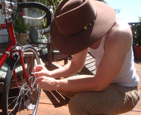 Mr. Bella Paints The Bike