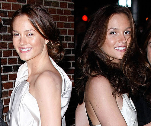 Do you like Leighton's hair up or down?