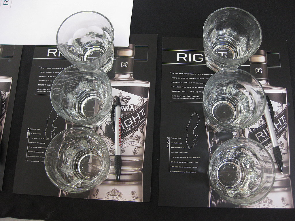 Three different unidentified gins.