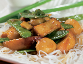 Tofu Peach Stir-Fry Recipe