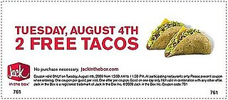 Two Free Tacos From Jack in the Box