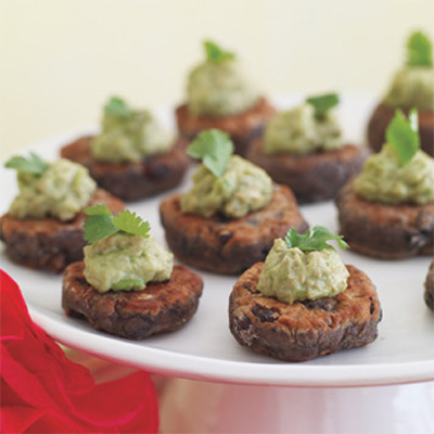 Black Bean Cakes with Guacamole