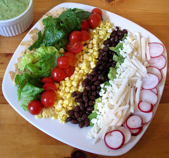 Fast & Easy Recipe For Vegetarian or Vegan Layered Taco Salad