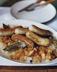 Oktoberfest Bratwurst and Sauerkraut Menu