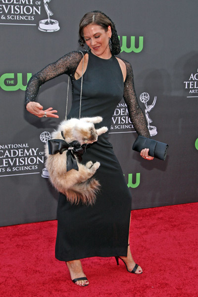 """Stacy Brings """"Kitty"""" As Her Red Carpet Date To the 2009 Daytime Emmys"""