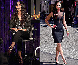 Photos and Video of Megan Fox on The Late Show, at Fuse Studios