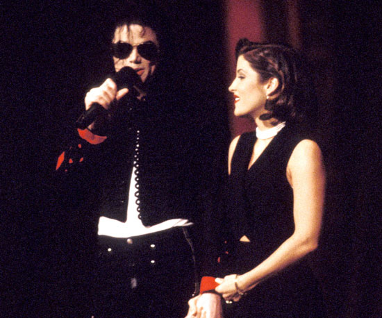 Michael and his then-wife, Lisa Marie Presley, famously locked lips on stage during the 1994 MTV VMAs.