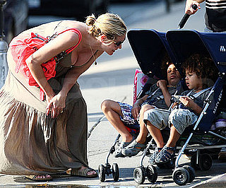 Slide Photo of Pregnant Heidi Klum out for a Walk in NYC