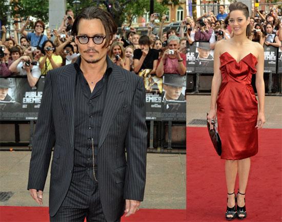 Photos of Johnny Depp, Marion Cotillard at Public Enemies Premiere in London