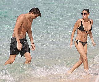 Photo Slide of Demi Moore in a Bikini and Ashton Kutcher Shirtless in the Caribbean