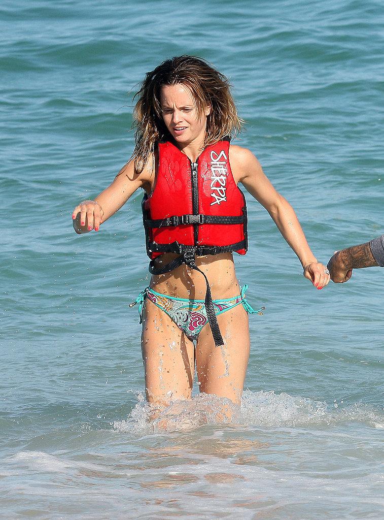 Photos of Mena Suvari Jet skiing in a Bikini
