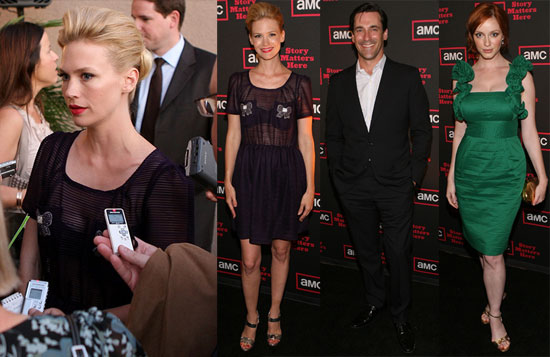 Photos of Jon Hamm and January Jones at a Cocktail Party For Season Three of Mad Men in LA