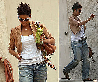 Photos of Halle Berry in Boyfriend Jeans in LA