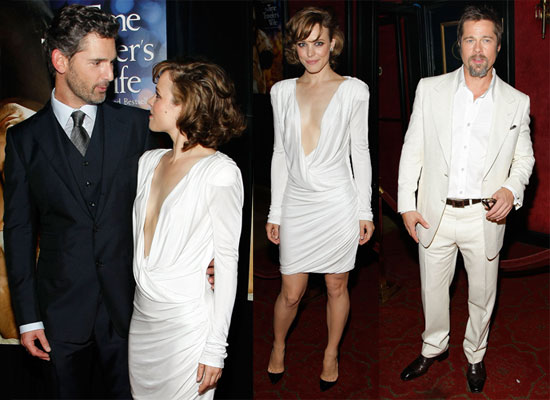 Photos of Rachel McAdams, Brad Pitt, and Eric Bana at NYC Premiere of The Time Traveler's Wife