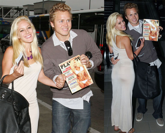 Photos of Heidi and Spencer at LAX