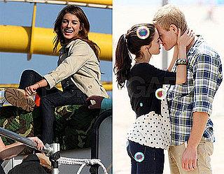 Photos of Shenae Grimes, Jessica Lowndes, Trevor Donovan Filming 90210