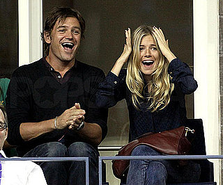 Slide Photo of Sienna Miller and George Barker at US Open