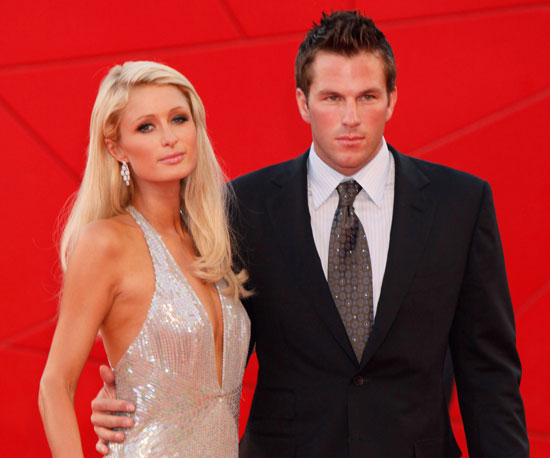 Slide Photo of Paris Hilton and Doug Reinhardt on the Red Carpet at the Venice Film Festival
