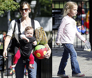 Photos of Jennifer Garner With Daughters Violet and Seraphina in Boston on Labor Day