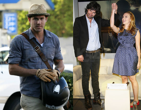 Photos of Scarlett Johansson and Pete Yorn Promoting Break Up in Paris; Ryan Reynolds Running Errands Solo in LA