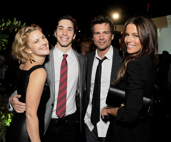 Slide Photo of Drew Barrymore, Justin Long, Kate Beckinsale, Len Wiseman at Whip It Afterparty