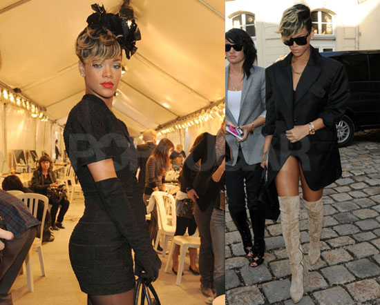 Photos of Rihanna Making the Rounds at Paris Fashion Week