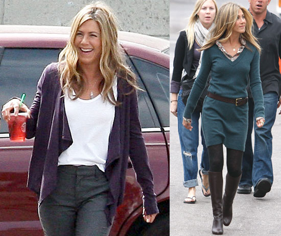 Photos of Jennifer Aniston Working On The Set of the Baster
