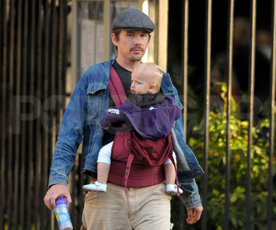 Photo Slide of Ethan And Clementine Hawke in NYC