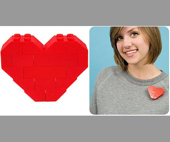 Pixelated Heart Pin