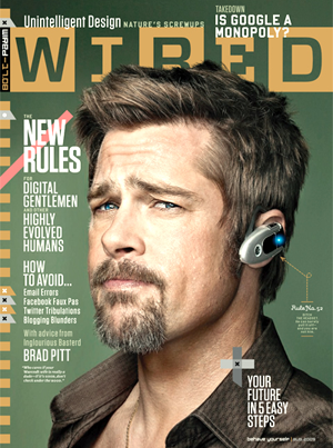 Brad Pitt Talking Tech in the Latest Issue of Wired Magazine