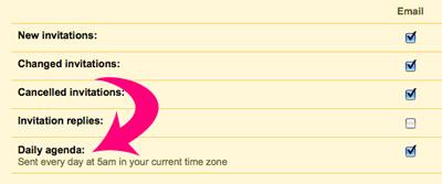 How to Receive a Daily Agenda From Google Calendar