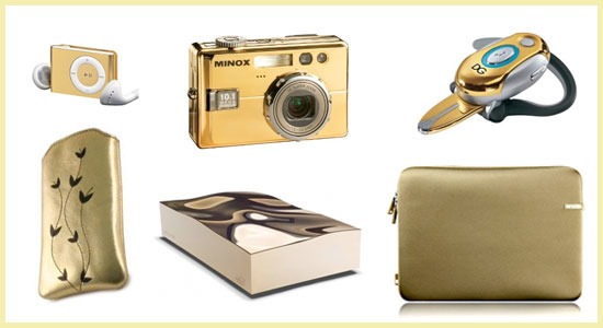 Technicolor Toys: Gold Gadgets and Accessories
