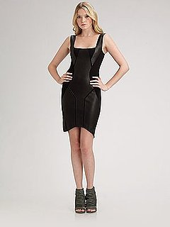 The Look For Less: Helmut Lang Leather and Wool Dress