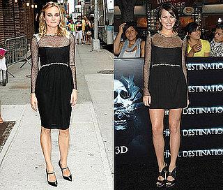 Diane Kruger and Shantel VanSanten Both Wear Chanel's Black Sheer Dress